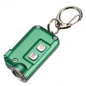 NITECORE Tini Senter LED CREE XP-G2 S3 380 Lumens USB Rechargeable Keychain - Green