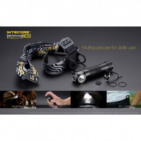 NITECORE HC33 Headlamp Senter LED CREE XHP35 HD 1800 Lumens - Black - 3
