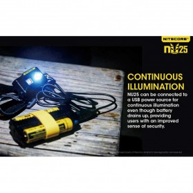 NITECORE NU25 Headlamp CREE XP-G2 S3 360 Lumens - White - 4
