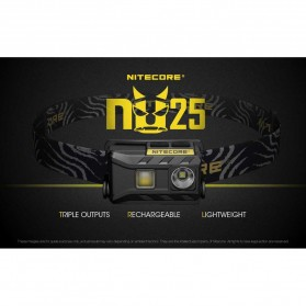 NITECORE NU25 Headlamp CREE XP-G2 S3 360 Lumens - White - 9