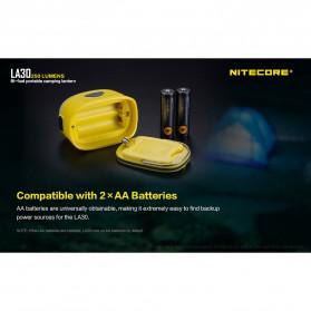 NITECORE Lampu Bi-fuel Pocket Camping Lantern - LA30 - Yellow - 6