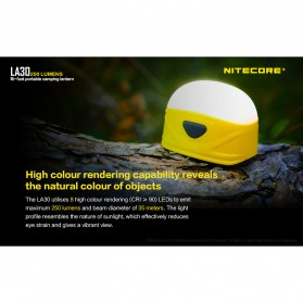 NITECORE Lampu Bi-fuel Pocket Camping Lantern - LA30 - Yellow - 7