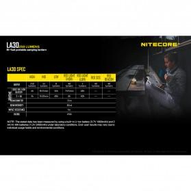 NITECORE Lampu Bi-fuel Pocket Camping Lantern - LA30 - Yellow - 10