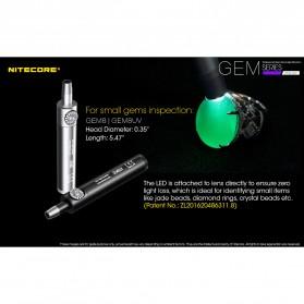 Nitecore GEM8UV Senter Indentifikasi Batu Mulia Gemstone Ultraviolet 3000mW - Black - 4