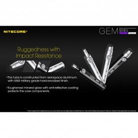 Nitecore GEM8UV Senter Indentifikasi Batu Mulia Gemstone Ultraviolet 3000mW - Black - 7