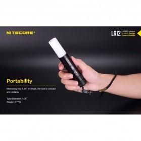 NITECORE LR12 Senter 2in1 Design Lipstick CREE XP-L HD V6 1000 Lumens - Black - 4