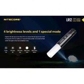NITECORE LR12 Senter 2in1 Design Lipstick CREE XP-L HD V6 1000 Lumens - Black - 5
