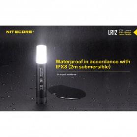 NITECORE LR12 Senter 2in1 Design Lipstick CREE XP-L HD V6 1000 Lumens - Black - 6