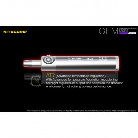 Nitecore GEM10UV Senter Indentifikasi Batu Mulia Gemstone Ultraviolet 3000mW - Black - 6