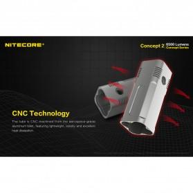NITECORE Concept 2 Senter LED CREE XHP35 HD 6500 Lumens - Black - 5