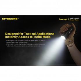 NITECORE Concept 2 Senter LED CREE XHP35 HD 6500 Lumens - Black - 6