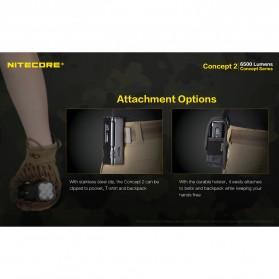 NITECORE Concept 2 Senter LED CREE XHP35 HD 6500 Lumens - Black - 7
