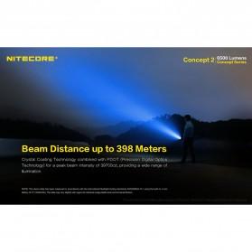 NITECORE Concept 2 Senter LED CREE XHP35 HD 6500 Lumens - Black - 8