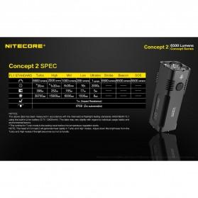 NITECORE Concept 2 Senter LED CREE XHP35 HD 6500 Lumens - Black - 9
