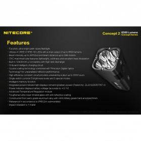NITECORE Concept 2 Senter LED CREE XHP35 HD 6500 Lumens - Black - 10