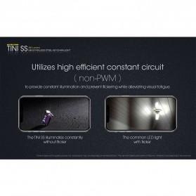 NITECORE Tini SS Tropical Senter LED CREE XP-G2 S3 380 Lumens - Multi-Color - 6