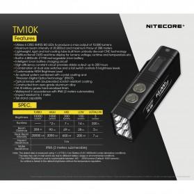 NITECORE TM10K Tiny Monster Senter LED CREE XHP35 HD 10000 Lumens - Black - 6