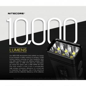 NITECORE TM10K Tiny Monster Senter LED CREE XHP35 HD 10000 Lumens - Black - 7