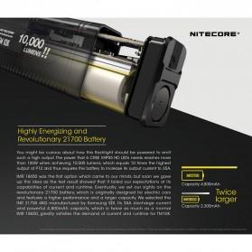 NITECORE TM10K Tiny Monster Senter LED CREE XHP35 HD 10000 Lumens - Black - 8