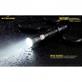 NITECORE MH25GTS Senter LED CREE XHP35 HD 1800 LUMENS - Black - 6