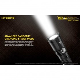 NITECORE MH25GTS Senter LED CREE XHP35 HD 1800 LUMENS - Black - 8