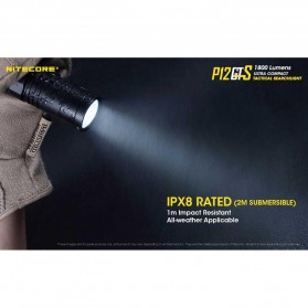 NITECORE P12GTS Senter LED CREE XHP35 HD 1800 LUMENS - Black - 6