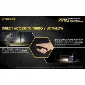 NITECORE P12GTS Senter LED CREE XHP35 HD 1800 LUMENS - Black - 8