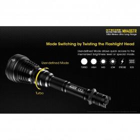 NITECORE MH40GTR Senter LED CREE XP-L HI V3 1200 Lumens - Black - 5