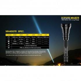 NITECORE MH40GTR Senter LED CREE XP-L HI V3 1200 Lumens - Black - 7