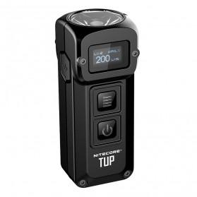 NITECORE TUP Senter LED Mini USB Rechargeable Cree XP-L HD V6 1000 Lumens - Gray - 2