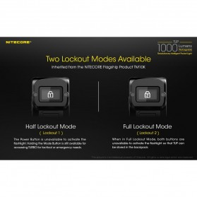 NITECORE TUP Senter LED Mini USB Rechargeable Cree XP-L HD V6 1000 Lumens - Gray - 5