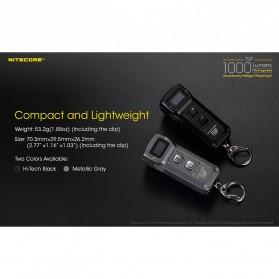 NITECORE TUP Senter LED Mini USB Rechargeable Cree XP-L HD V6 1000 Lumens - Gray - 6
