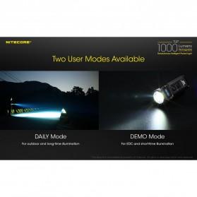 NITECORE TUP Senter LED Mini USB Rechargeable Cree XP-L HD V6 1000 Lumens - Gray - 7