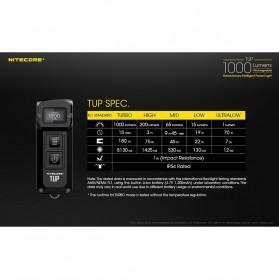 NITECORE TUP Senter LED Mini USB Rechargeable Cree XP-L HD V6 1000 Lumens - Gray - 10