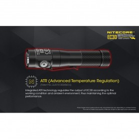 NITECORE EC30 Senter LED Cree XHP35 HD 1800 Lumens - Black - 8