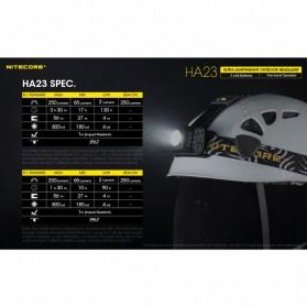 NITECORE HA23 Headlamp Senter Kepala LED CREE XP-G2 S3 250 Lumens - Black - 5