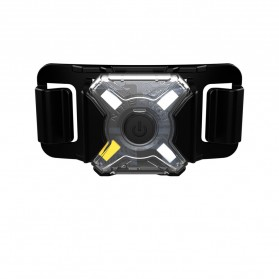 NITECORE NU05 LE Lampu Sinyal LED Mini Headlamp USB Rechargeable 20 Lumens - Black