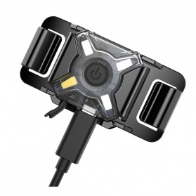 NITECORE NU05 LE Lampu Sinyal LED Mini Headlamp USB Rechargeable 20 Lumens - Black - 4