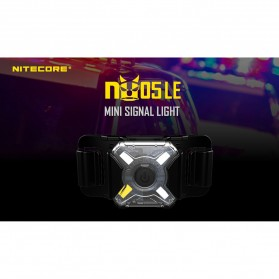 NITECORE NU05 LE Lampu Sinyal LED Mini Headlamp USB Rechargeable 20 Lumens - Black - 7