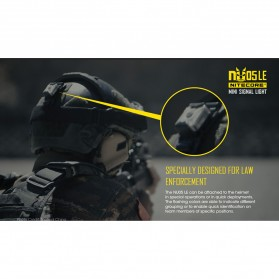 NITECORE NU05 LE Lampu Sinyal LED Mini Headlamp USB Rechargeable 20 Lumens - Black - 8