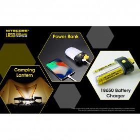NITECORE Lampu LED Pocket Camping Lantern 250 Lumens with Power Bank + Battery Charger - LR50 - Black - 6