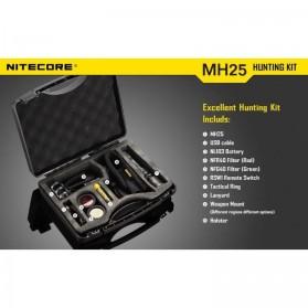 NITECORE MH25GT Senter LED CREE XP-L HI V3 1000 Lumens - Hunting Kit - Black - 6
