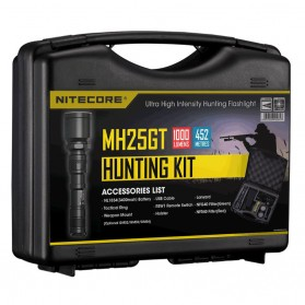 NITECORE MH25GT Senter LED CREE XP-L HI V3 1000 Lumens - Hunting Kit - Black - 2