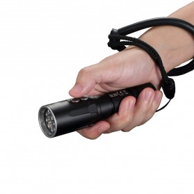 NITECORE DL20 Senter LED Diving Underwater Flashlight CREE XP-L HI V3 1000 Lumens - Black - 4