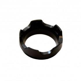 Nitecore Bezel Case Aksesoris Senter LED Stainless Steel For Nitecore P18 - Black - 5