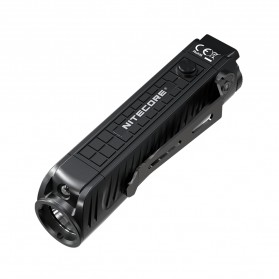 NITECORE P18 Senter LED Flashlight CREE XHP35 HD 1800 Lumens with Auxiliary Red Light Tactical - Black