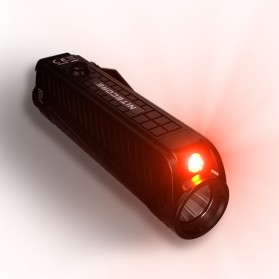 NITECORE P18 Senter LED Flashlight CREE XHP35 HD 1800 Lumens with Auxiliary Red Light Tactical - Black - 6