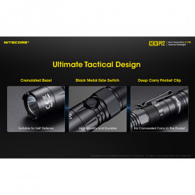 NITECORE New P12 Senter LED CREE XP-L HD V6 1200 Lumens - Black - 10