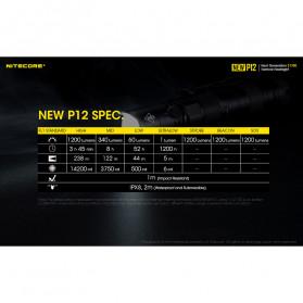 NITECORE New P12 Senter LED CREE XP-L HD V6 1200 Lumens - Black - 12