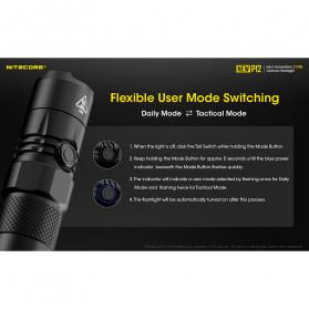 NITECORE New P12 Senter LED CREE XP-L HD V6 1200 Lumens - Black - 7